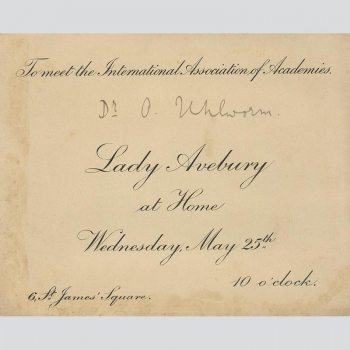 Lady Avebury, Einladung International Association of Academics