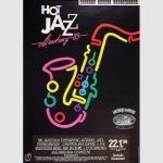 Hot Jazz Meeting '89. Plakat Tonhalle Düsseldorf 1989